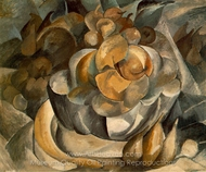 Fruit Dish painting reproduction, Georges Braque