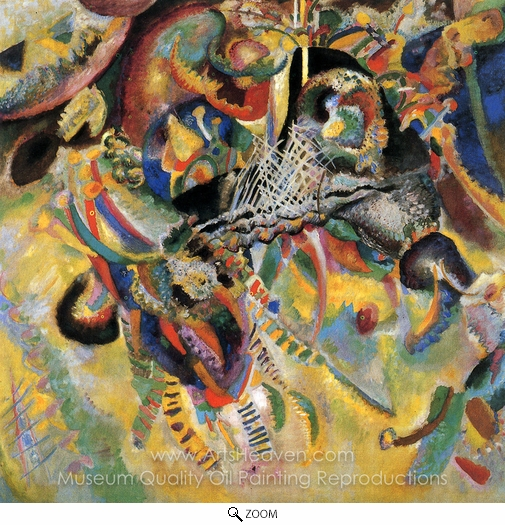 Wassily Kandinsky, Fugue oil painting reproduction