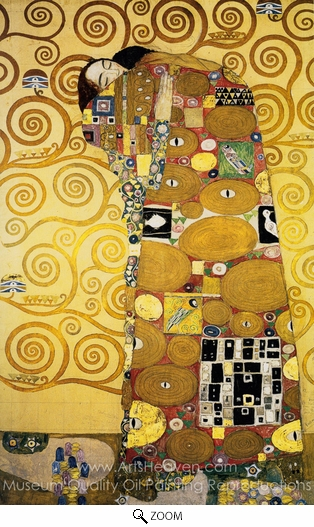 Gustav Klimt, Fulfilment oil painting reproduction