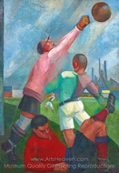 Futbol Players painting reproduction, Angel Zarraga