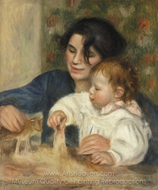 Gabrielle and Jean painting reproduction, Pierre-Auguste Renoir