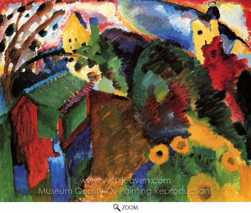 Wassily Kandinsky, Garden I oil painting reproduction