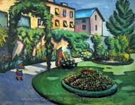 Garden Image painting reproduction, August Macke