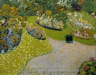 Garden in Auvers painting reproduction, Vincent Van Gogh