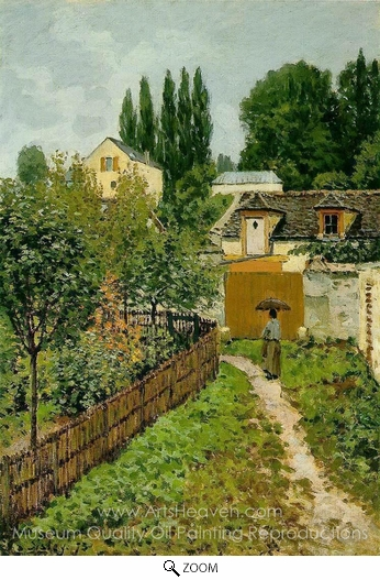 Alfred Sisley, Garden Path in Louveciennes oil painting reproduction