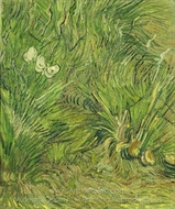 Garden with Butterflies painting reproduction, Vincent Van Gogh