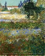 Garden with Flowers painting reproduction, Vincent Van Gogh