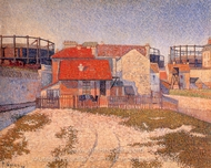 Gas Tanks at Clichy painting reproduction, Paul Signac