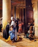 Gate of the Mosque painting reproduction, Ludwig Deutsch