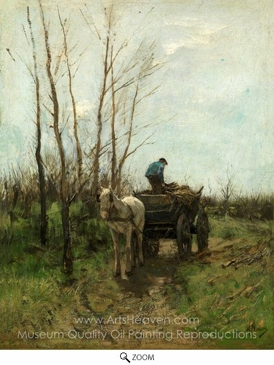 Anton Mauve, Gathering Wood oil painting reproduction