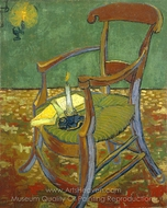Gauguin's Chair painting reproduction, Vincent Van Gogh