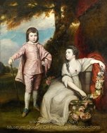 George Capel, Viscount Malden, and Lady Elizabeth Capel painting reproduction, Sir Joshua Reynolds