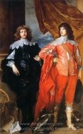 George, Lord Digby, and William, Lord Russell painting reproduction, Sir Anthony Van Dyck