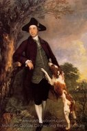 George, Lord Vernon painting reproduction, Thomas Gainsborough