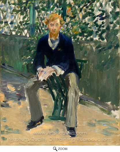 Édouard Manet, George Moore in the Artist's Garden oil painting reproduction