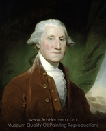 George Washington painting reproduction, Gilbert Stuart