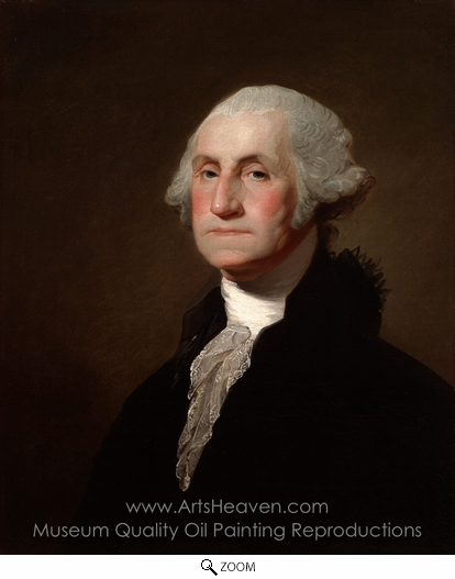 Gilbert Stuart, George Washington oil painting reproduction