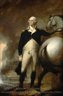 George Washington at Dorchester Heights painting reproduction, Gilbert Stuart