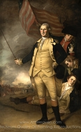 George Washington at the Battle of Princeton painting reproduction, Charles Willson Peale