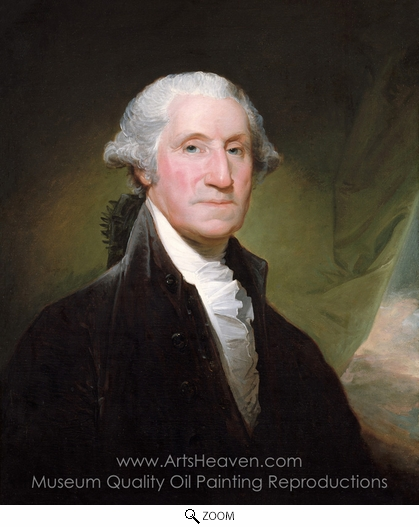 Gilbert Stuart, George Washington (The Gibbs-Channing-Avery Portrait) oil painting reproduction