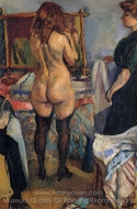 Getting Dressed painting reproduction, Jules Pascin