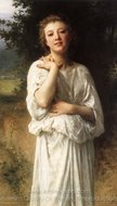 Girl painting reproduction, William A. Bouguereau