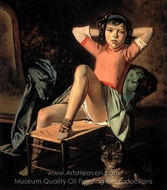 Girl and Cat painting reproduction, Balthus
