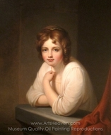 Girl at a Window (Rosalba Peale) painting reproduction, Rembrandt Peale
