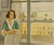Girl by a Window painting reproduction, Henri Matisse
