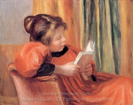 Girl Reading painting reproduction, Pierre-Auguste Renoir