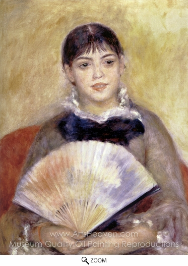 Pierre-Auguste Renoir, Girl with a Fan oil painting reproduction