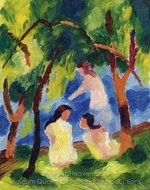 Girls Bathing painting reproduction, August Macke