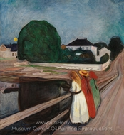 Girls on the Pier painting reproduction, Edvard Munch