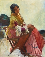 Gitana painting reproduction, Joaquin Sorolla