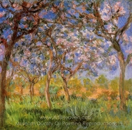 Giverny in Springtime painting reproduction, Claude Monet
