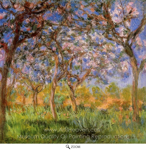 Claude Monet, Giverny in Springtime oil painting reproduction