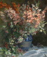 Gladioli in a Vase painting reproduction, Pierre-Auguste Renoir