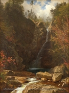 Glen Ellis Falls painting reproduction, Albert Bierstadt