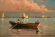 Gloucester Harbor painting reproduction, Winslow Homer