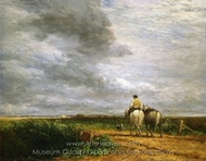 Going to the Hayfield painting reproduction, David Cox