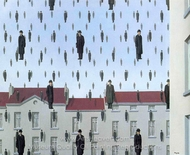 Golconda painting reproduction, Rene Magritte (inspired by)