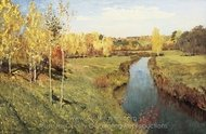 Golden Autumn painting reproduction, Isaak Levitan