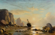 Golden Rays on the Labrador Coast painting reproduction, William Bradford