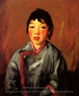 Grace, Chinese Girl painting reproduction, Robert Henri