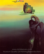 Gradiva Finds the Anthropomorphic Ruins painting reproduction, Salvador Dali (inspired by)