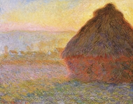 Grainstack at Sunset painting reproduction, Claude Monet