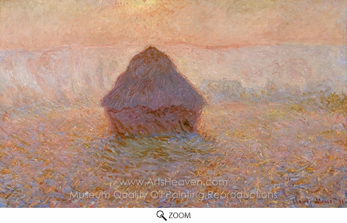 Claude Monet, Grainstack, Sun in the Mist oil painting reproduction