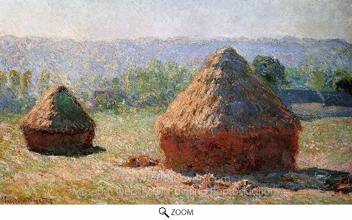 Claude Monet, Grainstacks at the End of Summer, Morning Effect oil painting reproduction