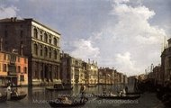 Grand Canal: Looking South-West from the Palazzo Grimani to the Palazzo Foscari painting reproduction, Canaletto