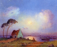 Grande Briere Landscape painting reproduction, Ferdinand Du Puigaudeau
